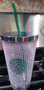 Very Rare Starbucks Studded Straw Cup